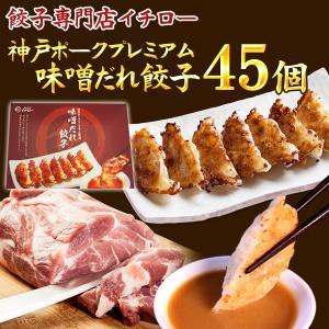 """【送料無料】""""贈り物にも""""神戸ポークプレミアム100%♪★味噌だれ餃子45個セット★"""