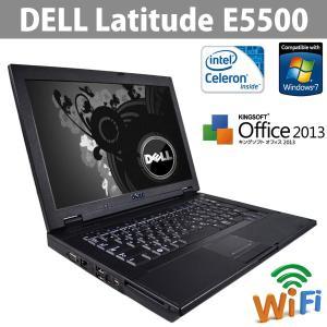 中古ノートパソコン DELL Latitude E5500 Office2013 大画面15.4型ワイド CPUCeleron 2.2GHz メモリ2GB HDD160GB Windows7 (32bit) リカバリDtoD領域有|ichiya1