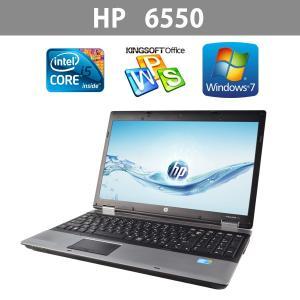 送料無料  中古ノートパソコン HP  6550  15.6型ワイド   高速Core i5  2.53GHz  メモリ4GB  HDD250GB  Windows7  リカバリDtoD領域有|ichiya1