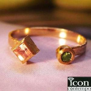 ■グリーンダイヤモンド /2.4mm 0.05ct ■インペリアルトパーズ /ブラジル ミナス産スク...