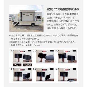 ロータイプ・背面収納付 壁よせTVスタンド 〔...の詳細画像4