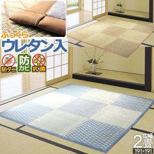 い草 ラグ カーペット ござ 2畳 二畳 MUTUKI 191×191 ボリューム ふっくら 涼しい 4サイズ規格 2畳〜ミニ6畳 アイコンの写真