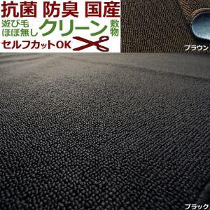 カーペット 二畳 2畳 ピンクロ 176×176cm 黒 こ...