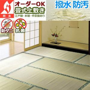 い草 カーペット 上敷き 6畳『畳式上敷き』江戸間261×352cm|iconyt