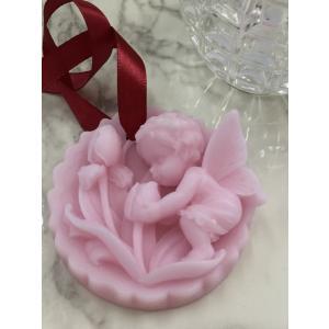アロマキャンドル サシェ 天使とお花 壁掛け用 精油 ローズガーデン icot-onlin