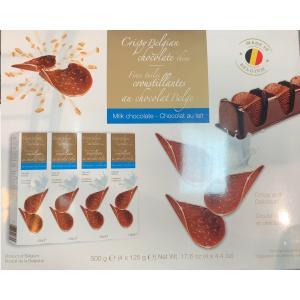 ミルクたっぷりのチョコレート クリスピーのザクザク感がくせになりますね。 500g入り(125g×4...