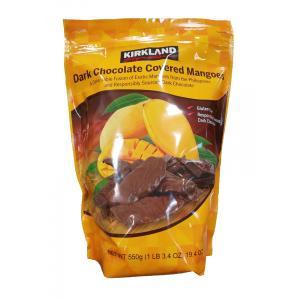 名称:チョコレート菓子 原材料名:乾燥マンゴー(マンゴー、砂糖)、ダークチョコレート(砂糖、カカオマ...