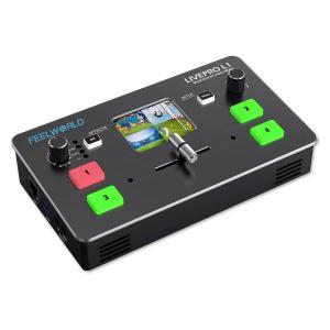 4chビデオミキサースイッチャーHDMI4入力USB3 液晶画面内蔵 ライブストリーム[LIVEPRO L1 V1]の画像