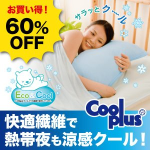 60%OFF 熱帯夜 涼感 Eco&Cool枕カバー ポイント消化|idea-info
