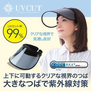 COOL UVサンバイザー UVカット率99% クールマックス 吸水速乾 日焼け 紫外線対策 クリアな視界 母の日 ポイント消化 旧パッケージのため特価価格!にてご提供|idea-info
