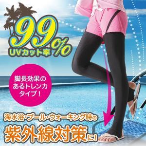 吸水速乾 紫外線対策 ラッシュガード 脚長美脚スイムトレンカ|idea-info