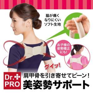 脇が痛くなりにくい ピーンと背筋ベルト 肩甲骨を引き寄せ 美姿勢 猫背 姿勢矯正サポート サイズ調節 ポイント消化|idea-info
