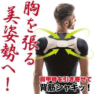 メンズ脇が痛くなりにくい ピーンと背筋ベルト 肩甲骨を引き寄せる キレイな姿勢 メンズ 父の日 ポイント消化|idea-info