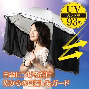 新感覚UV対策グッズ!かんたん装着傘カーテン ブラック|idea-info