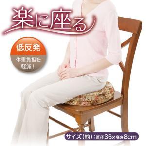 低反発 姿勢 座骨 骨盤 楽に座る 骨盤円座クッション|idea-info