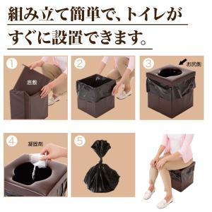 災害 介護 アウトドア 消臭成分配合 非常用トイレらくらくお助けボックスセット|idea-info|03