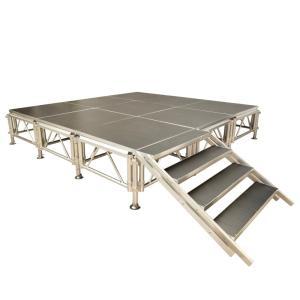 ■工具がいらず、天板をのせるだけの簡単組立! ■アルミ構造体をベースにしたステージ。高さ3段階に調整...