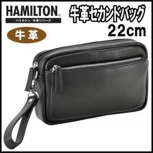 セカンドバッグ メンズ 本革 牛革 クラッチバッグ セカンドポーチ ハミルトン 22cm メンズバッグ かばん 25845|ideal-bag