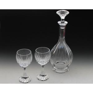 バカラ マッセナ ワインデカンター&グラスの3点セット|ideale