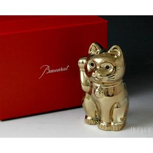 バカラ フィギュア 2612-997 招き猫 ゴールド 2612997|ideale