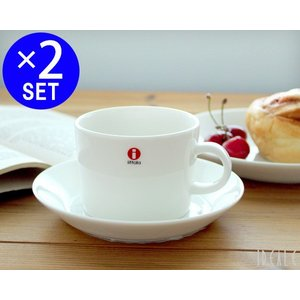 イッタラ ティーマ ホワイト 7253/7248 ティー/コーヒー(兼用)カップ&ソーサー 220ml ペア 15cup|ideale