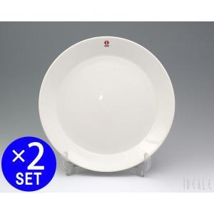 【イッタラ ティーマ ホワイト 7245 プレート 23cm 2枚セット 耐熱 電子レンジ対応 お皿...