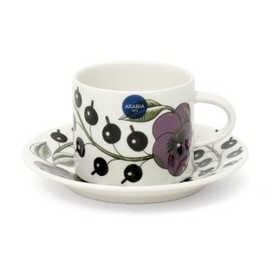 エントリーで全品ポイント15倍! アラビア パラティッシパープル コーヒーカップ&ソーサー 100366/100367|ideale