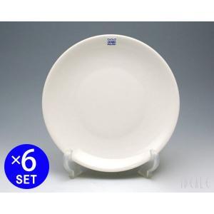 【アラビア 24h 5275 プレート 20cm ホワイト 6枚セット 耐熱 電子レンジ対応 お皿:...