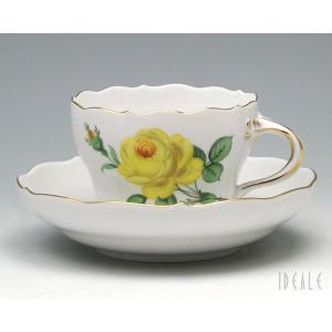 マイセン イエローローズ 020610-582 コーヒーカップ&ソーサー|ideale