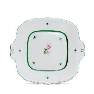 【ヘレンド VRH ウィーンのバラ 431/0/00 四角ケーキプレート 27×24cm お皿 ギフ...