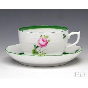 ヘレンド VRH ウィーンのバラ 724/0/00 ティーカップ&ソーサー|ideale