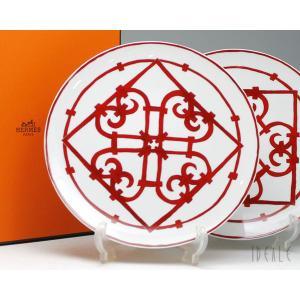 【エルメス(HERMES)  ガダルキヴィール 11001 プレート 26cm ペア セット お皿:...