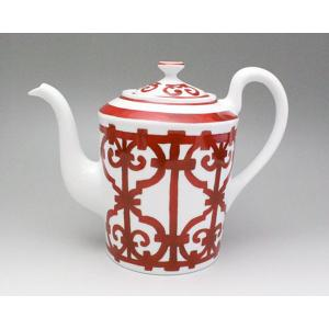 エルメス HERMES ガダルキヴィール レッド 11018 コーヒー/ティー ポット|ideale