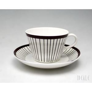 復刻版 グスタフスベリ スピサ・リブ 490-06 コーヒーカップ&ソーサー GUSTAVSBERG Spisa Ribb|ideale