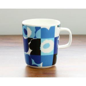 マリメッコ ルートゥ ウニッコ マグカップ 250ml ブルー marimekko RUUTU UNIKKO [AutumnSale] ideale