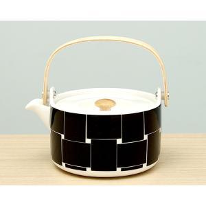 マリメッコ バスケット ティーポット 700ml ブラック marimekko BASKET 廃番品|ideale