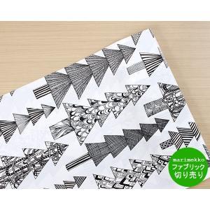 マリメッコ クーシコッサ コットンファブリック(生地) ホワイト/ブラック (30cm以上から10cm単位で切売) [ネコポス対応可(100cmまで)][ネコポスなら送料無料]|ideale