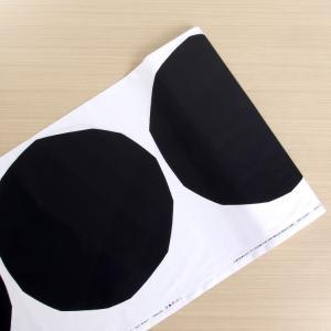 マリメッコ イソ キヴェット コットンファブリック(生地) ホワイト/ブラック (30cm以上から1...