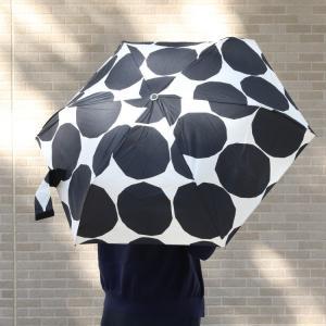 マリメッコ キヴェット 折り畳み傘 ブラック marimekko KIVET