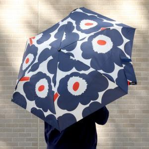 マリメッコ ピエニウニッコ 折り畳み傘 ホワイト/ネイビー/オレンジ marimekko PIENI...