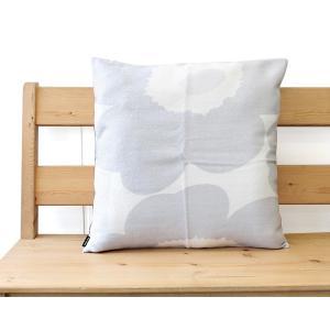 マリメッコ ウニッコ クッションカバー 50x50cm ホワイト/ライトグレー marimekko UNIKKO|ideale