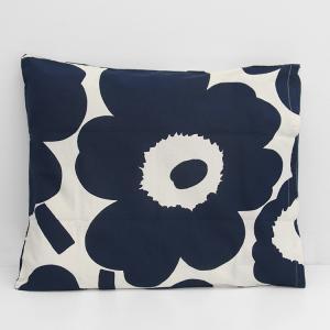 マリメッコ ウニッコ 枕カバー 50x60cm ホワイト/ダークブルー marimekko UNIKKO [ネコポス対応可(1枚のみ)]|ideale