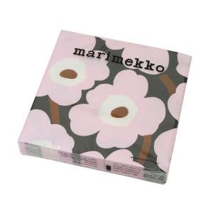 【マリメッコ ペーパーナプキン ウニッコ ローズ 33x33cm 20枚入り marimekko U...