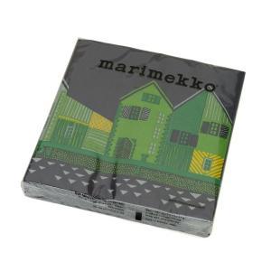 【マリメッコ ペーパーナプキン ヴァンハカウプンキ ブルー 33x33cm 20枚入り marime...