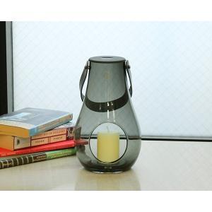 ホルムガード ランタン/デザイン ウィズ ライト スモーク M 25cm Holmegaard DESIGN WITH LIGHT|ideale