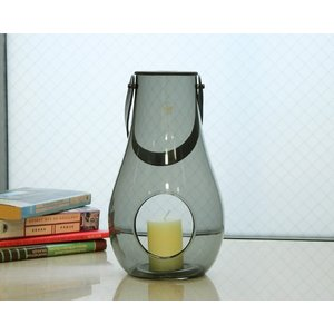 ホルムガード ランタン/デザイン ウィズ ライト スモーク L 29cm Holmegaard DESIGN WITH LIGHT|ideale