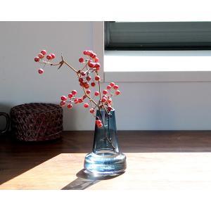 ホルムガード フローラ ベース 12cm ロング ブルー Holmegaard Flora vase