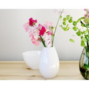 ホルムガード コクーン ベース 17cm ホワイト Holmegaard Cocoon vase|ideale