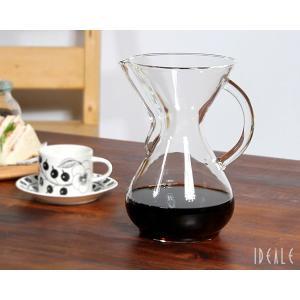 ケメックス CHEMEX コーヒーメーカー 6カップ CM-6GH ハンドル付|ideale