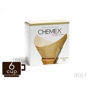 ケメックス CHEMEX 専用フィルターペーパー FSU-100 6カップ用 ナチュラル(無漂白タイプ) 100枚入り|ideale